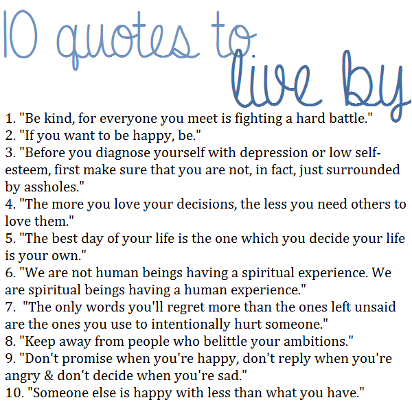 Words To Live By Quotes: Daily Inspiration